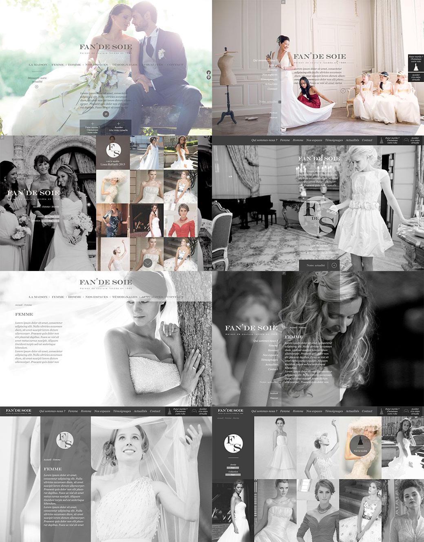 fan de soie robe de mariées