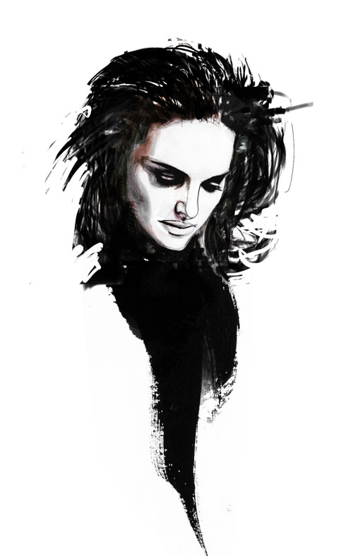 Portrait Dessin Noir Et Blanc Visage