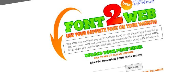 font2web